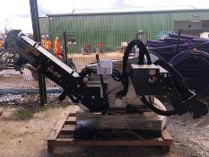 Unused Simex model TA300 wheel saw with waste conveyor, serial no. MO24186B14, Year - 2018