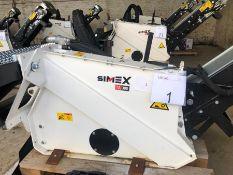 Unused Simex model TA300 wheel saw with waste conveyor, serial no. MO24789B14, Year - 2018