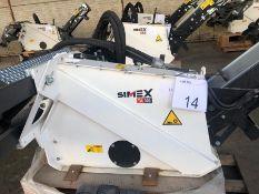 Unused Simex model TA300 wheel saw with waste conveyor, serial no. MO24187B14, Year - 2018
