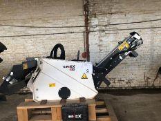 Unused Simex model TA300 wheel saw with waste conveyor, serial no. MO23967B14, Year. 2018