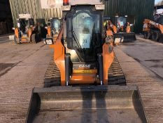 Case TR320 tracked loader with water suppression system, piped for attachments, serial no.