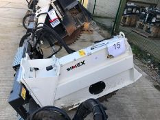 Simex model FT300 wheel saw, serial no. M019289B01, Year - 2017 ( Excludes Case Loader )
