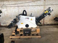 Unused Simex model TA300 wheel saw with waste conveyor, serial no. MO24791B14, Year - 2018