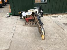 Simex model CHD120 chain excavator trencher unit, serial no. MO21033D02