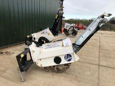 Simex model T300 wheel saw with waste conveyor, serial no. MO22003B01, Year 2018