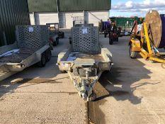 Ifor Williams twin axle plant trailer HO726655 TR7- Jockey Wheel damaged