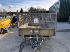 Ifor Williams cage side twin axle plant trailer XO253830 TR3
