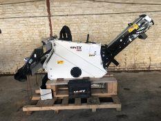 Unused Simex model TA300 wheel saw with waste conveyor, serial no. MO24790B14, Year - 2018
