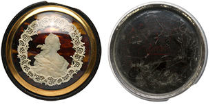Catherine the Great. Lacquer box.