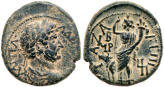 City Coins of Israel. Gaza. Hadrian. Æ (9.76 g), AD 117-138. EF