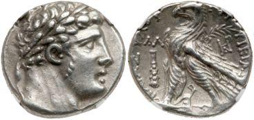 Phoenicia, Tyre. Silver Shekel (14.10 g), ca. 126/5 BC-AD 65/6