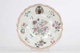 China porcelain plate from the 18th century