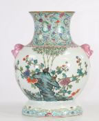 China porcelain vase decorated with quail republic period mark under the piece