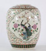 China cracked porcelain vase 19th century furniture decor