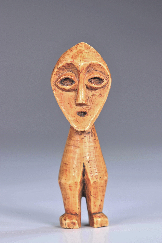 Statuette janus Lega DRC Ivory - mid20th - Image 4 of 5
