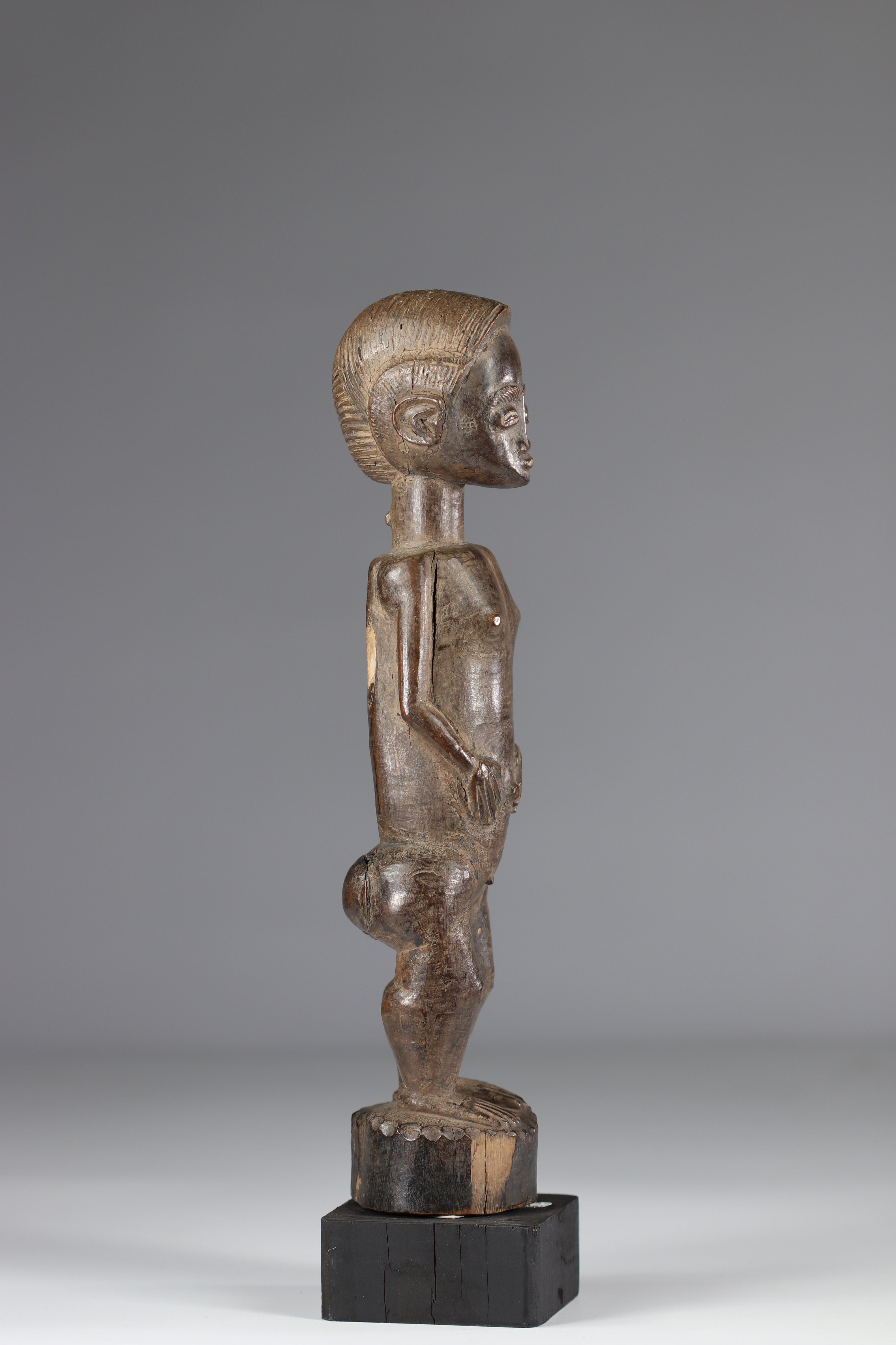 Baoule statuette in good condition mid 20th century - Image 4 of 5