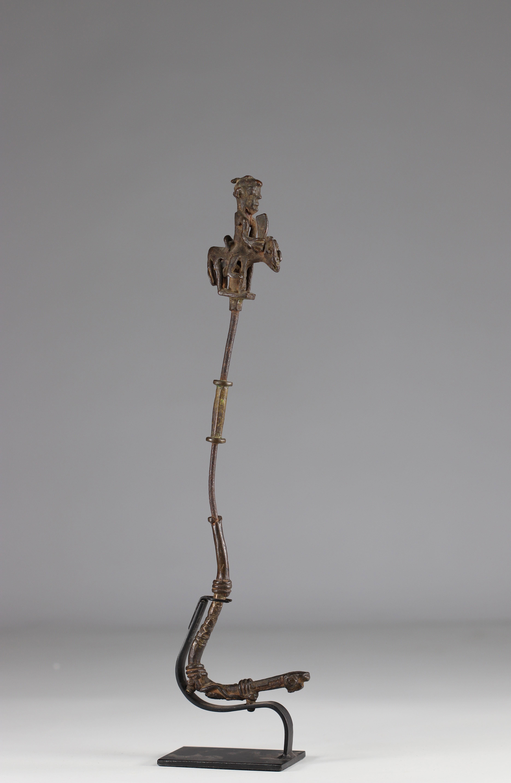 Rare Scepter of a Yoruba dignitary representing a rider - beautiful patina - Prov: JP. Jernander- Ni