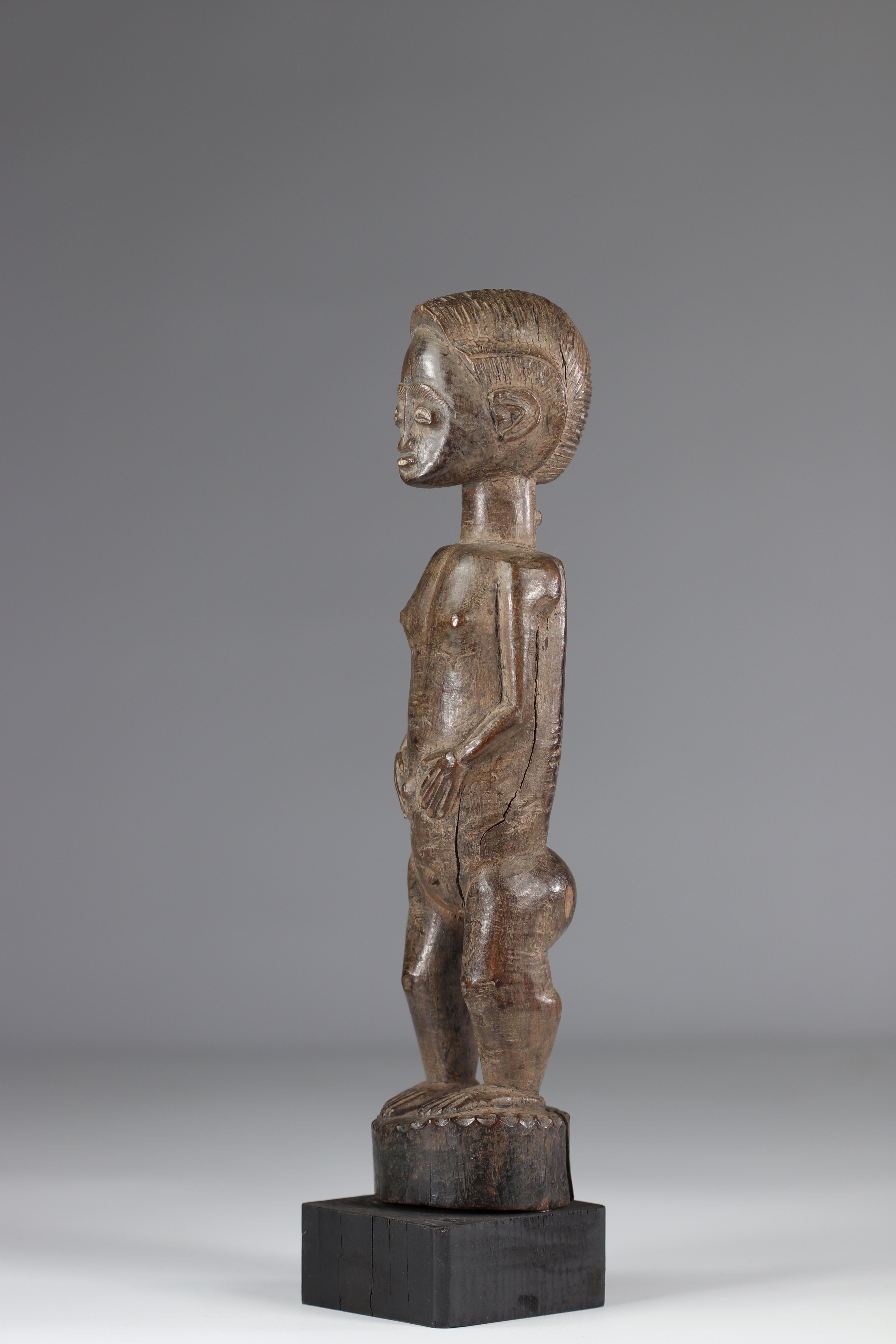 Baoule statuette in good condition mid 20th century - Image 3 of 5