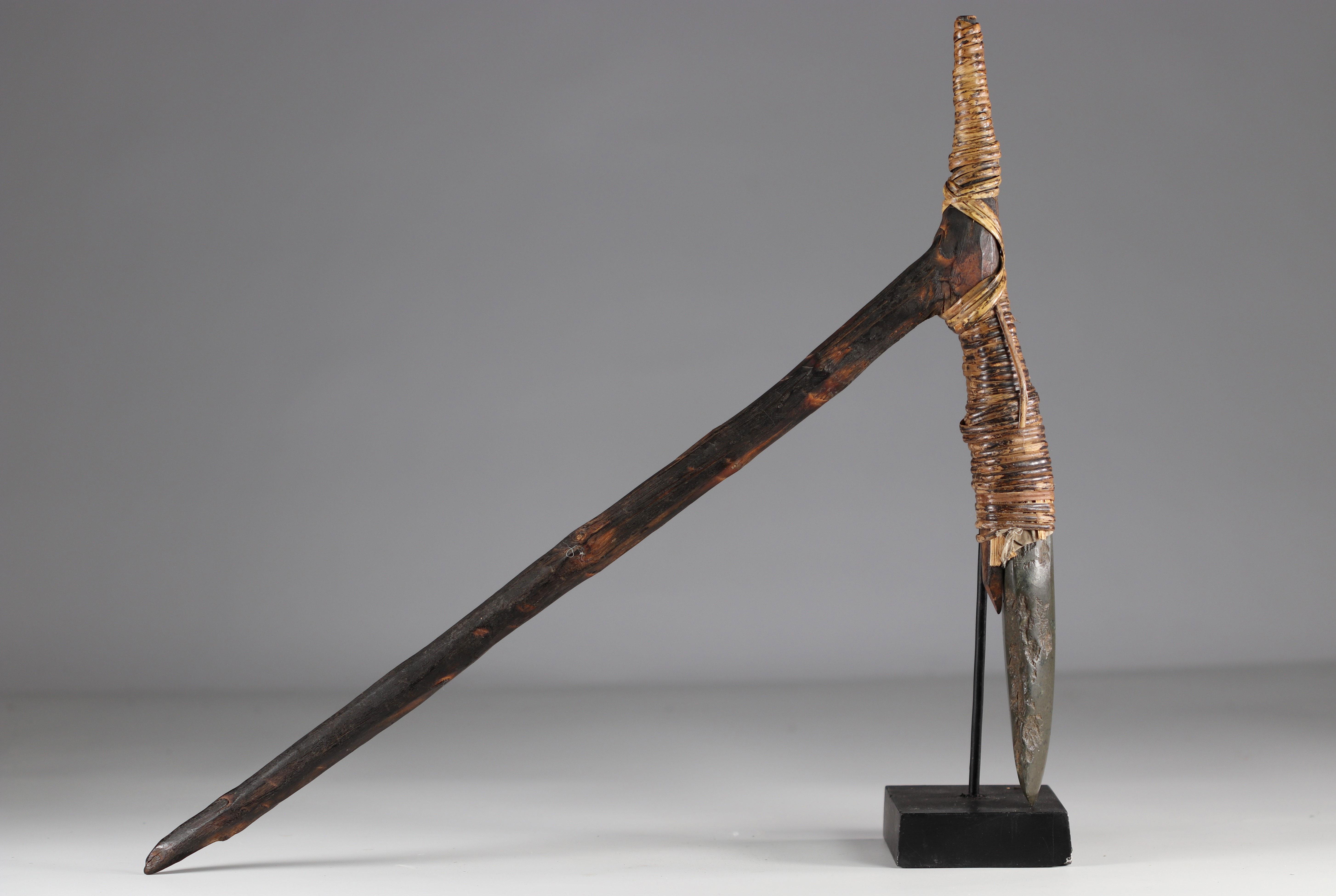 Asmat ax - original stone - Papua New Guinea - mid 20th century