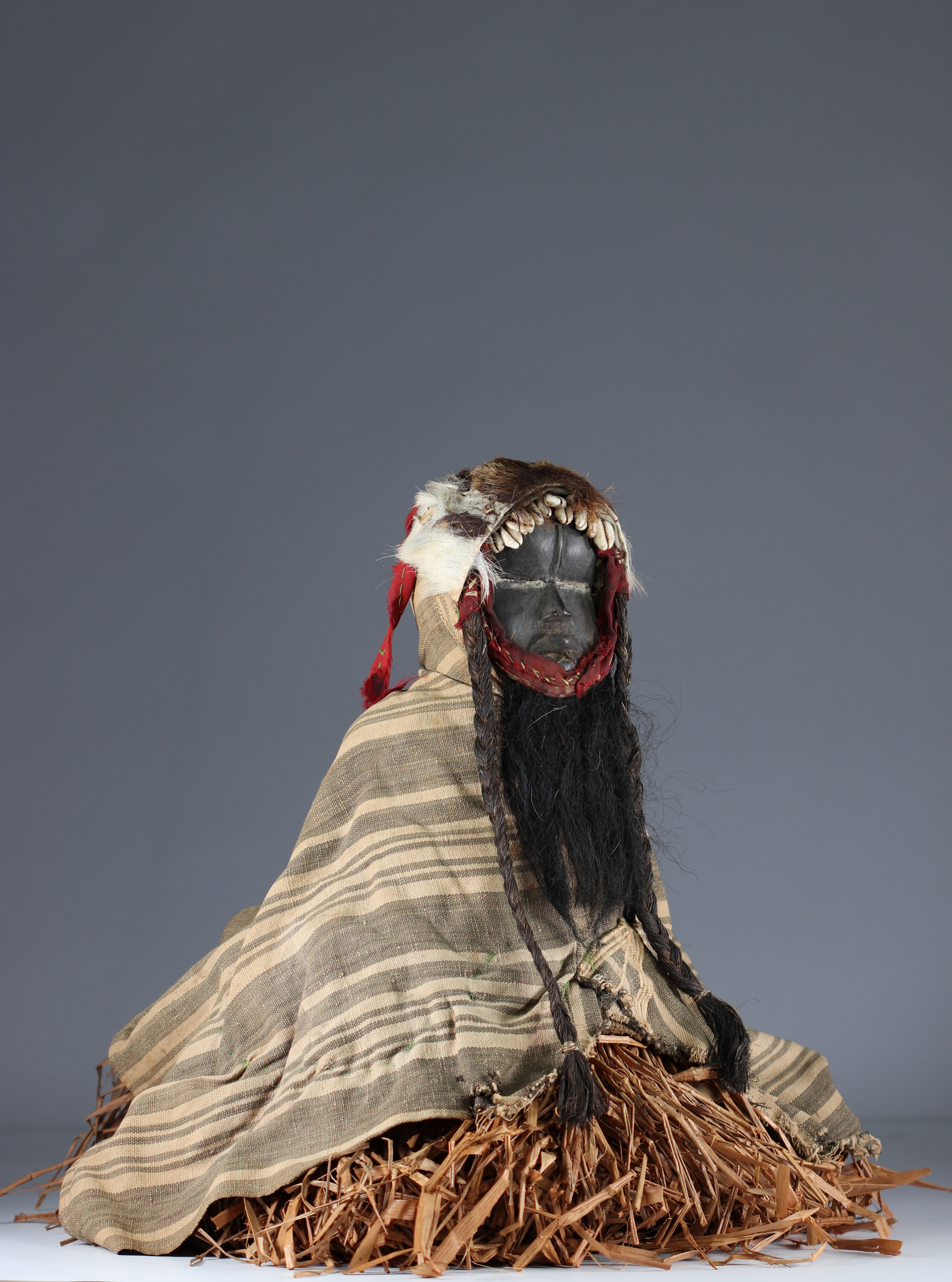 Rare fetish protector of fields with costume.- Dan- Ivory Coast- Mid 20th century. Ex Budrose coll. - Image 2 of 5