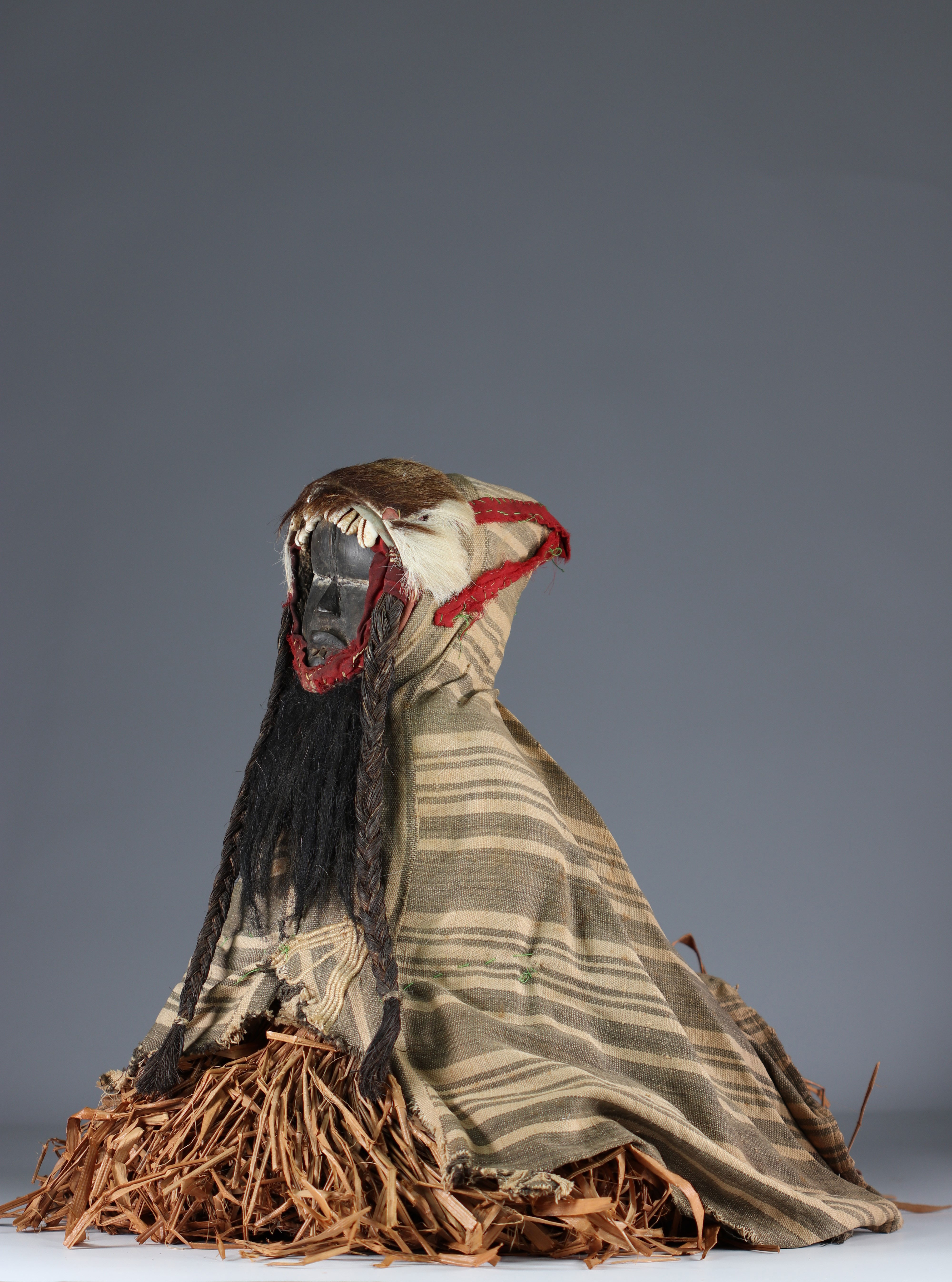 Rare fetish protector of fields with costume.- Dan- Ivory Coast- Mid 20th century. Ex Budrose coll. - Image 4 of 5