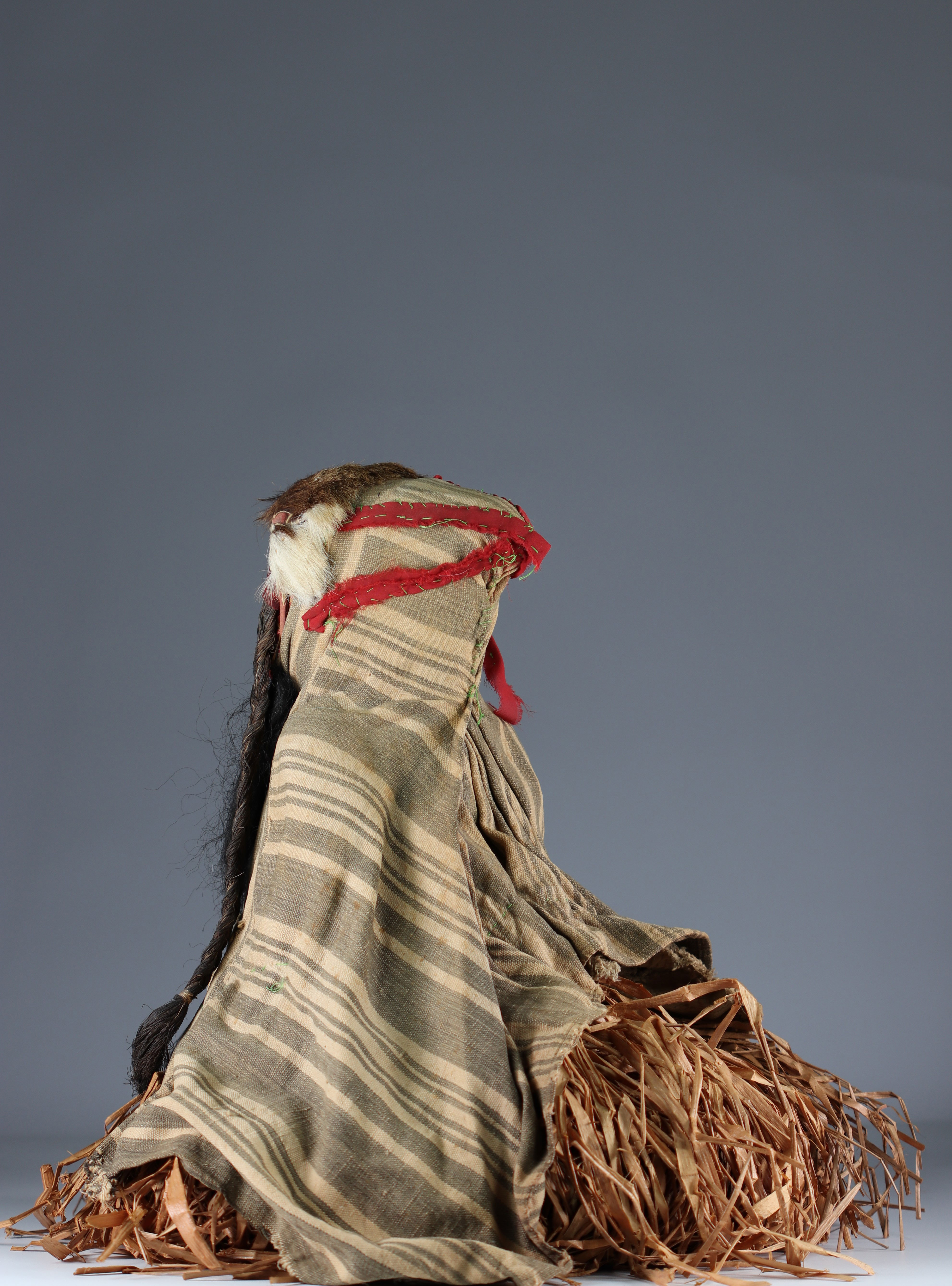 Rare fetish protector of fields with costume.- Dan- Ivory Coast- Mid 20th century. Ex Budrose coll. - Image 5 of 5