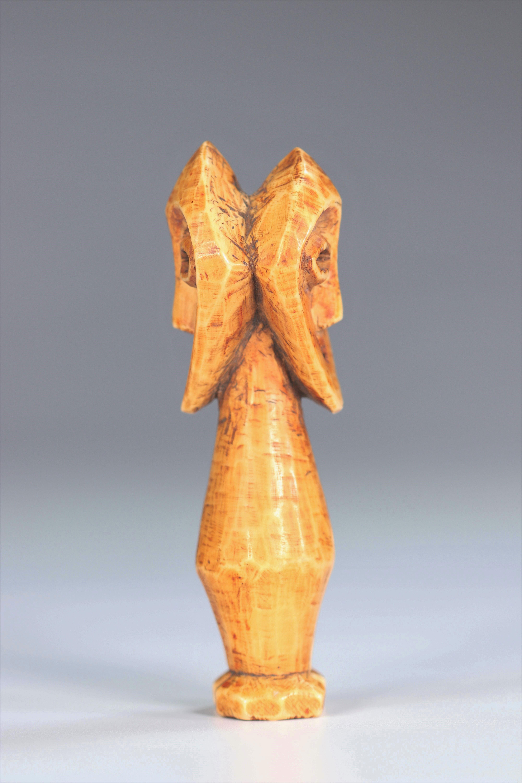 Statuette janus Lega DRC Ivory - mid20th - Image 3 of 5