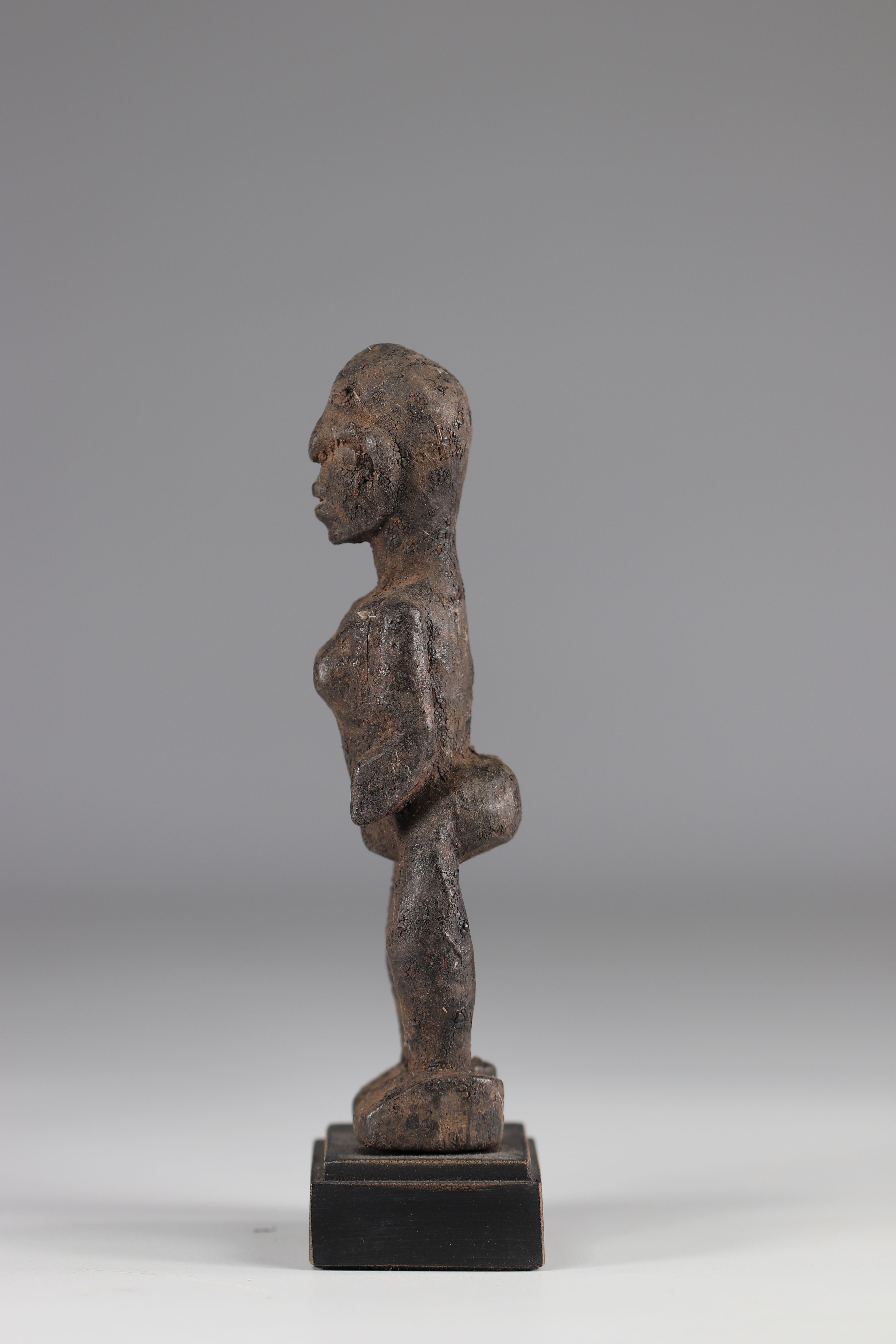 Kassena-Rare statuette and old Kassena statuette (Burkina Faso). Dense wood covered with a thick sac - Image 4 of 4