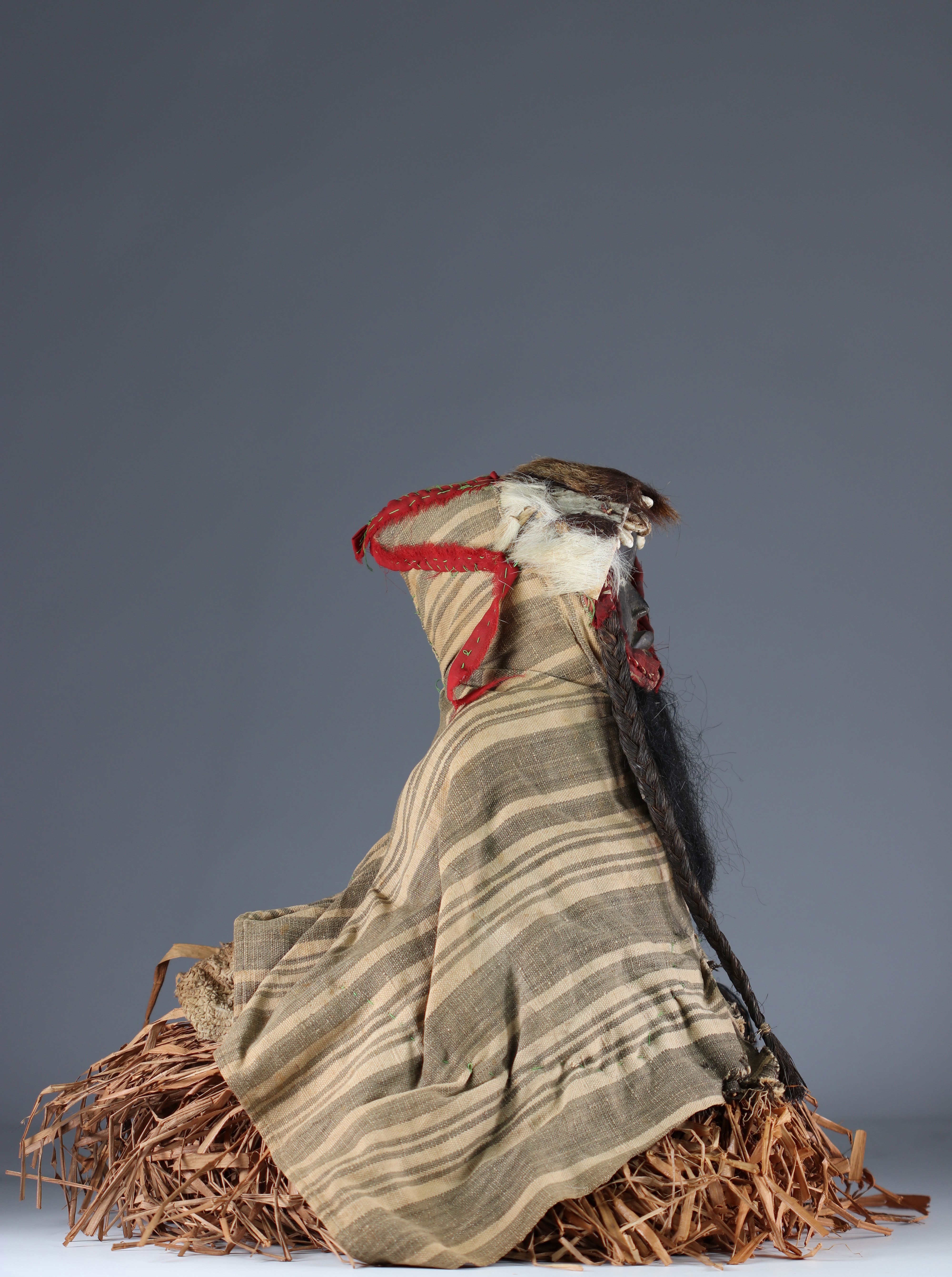 Rare fetish protector of fields with costume.- Dan- Ivory Coast- Mid 20th century. Ex Budrose coll. - Image 3 of 5