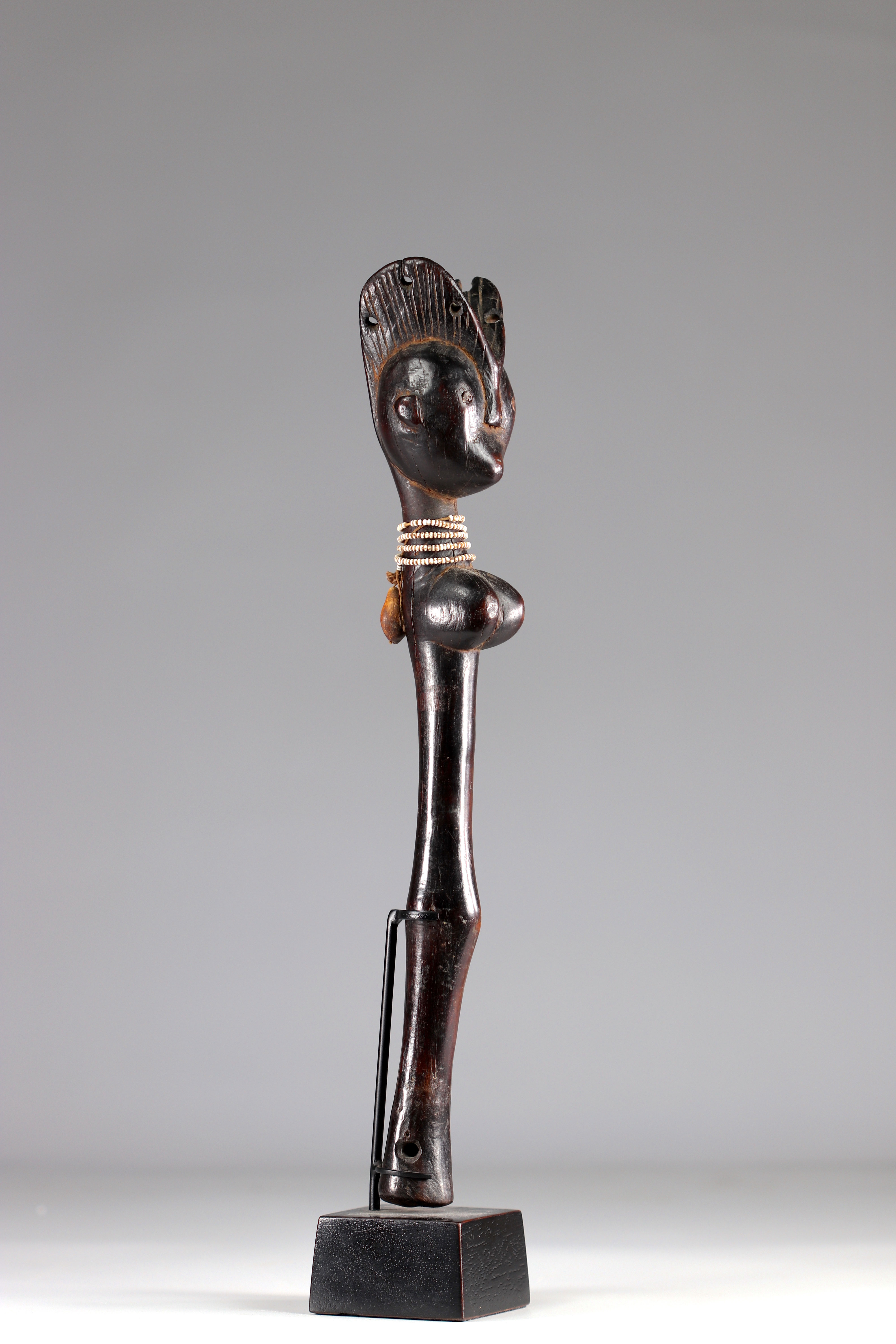Mossi Scepter-Old Mossi ceremonial scepter (Burkina Faso). First half of the XXth Century. Superb pa