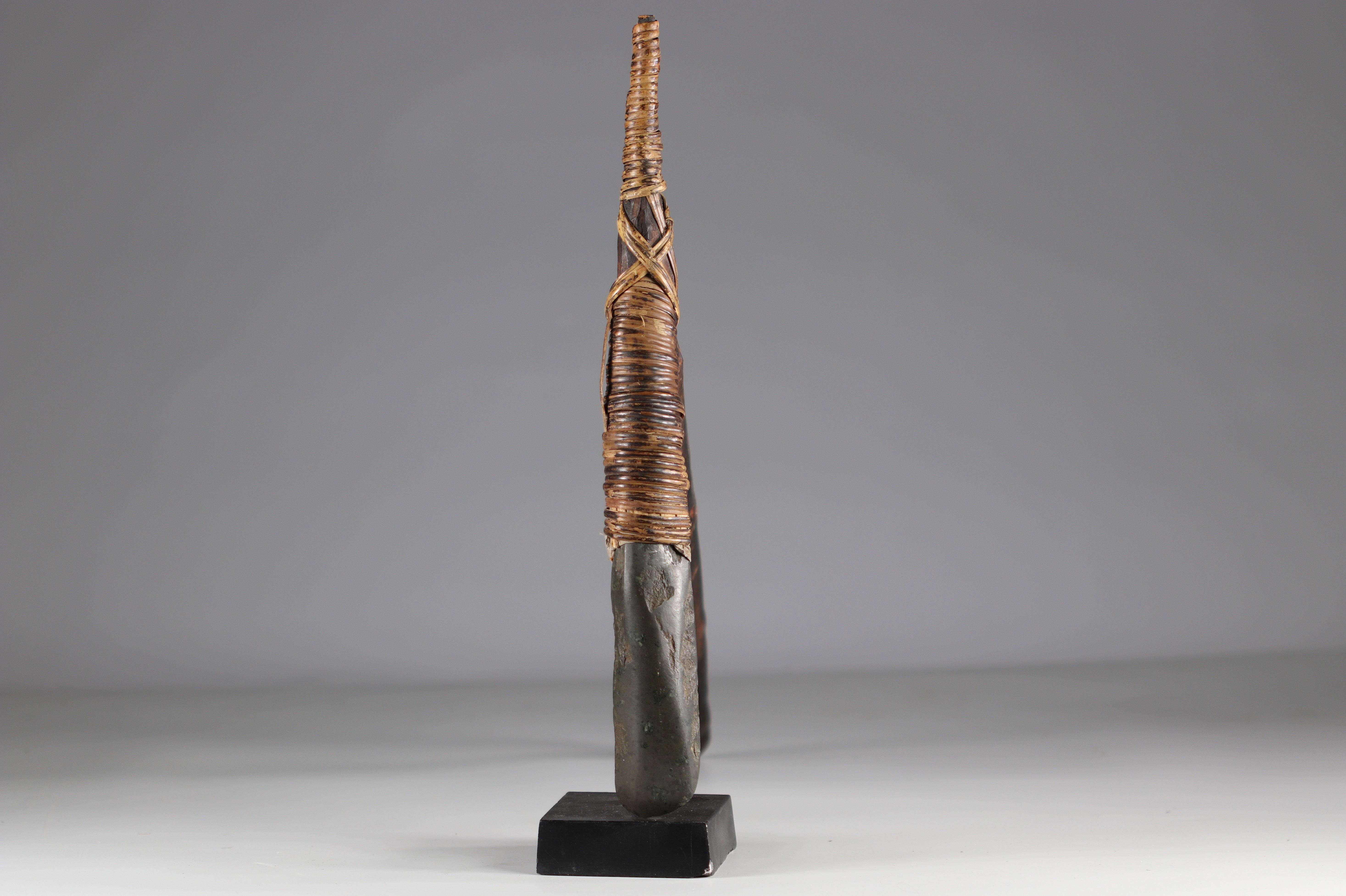 Asmat ax - original stone - Papua New Guinea - mid 20th century - Image 2 of 3