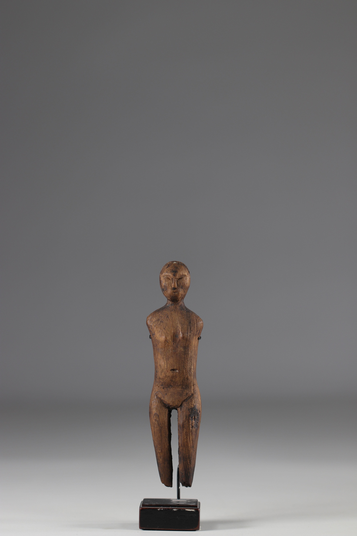 Old statuette of Eskimo shaman - Alaska - 19th century - Image 4 of 5
