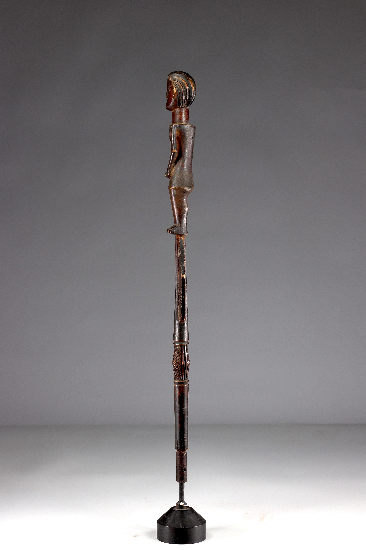 Beautiful and elegant Luba scepter top - beautiful original patina - private collection Belgium - Image 4 of 5