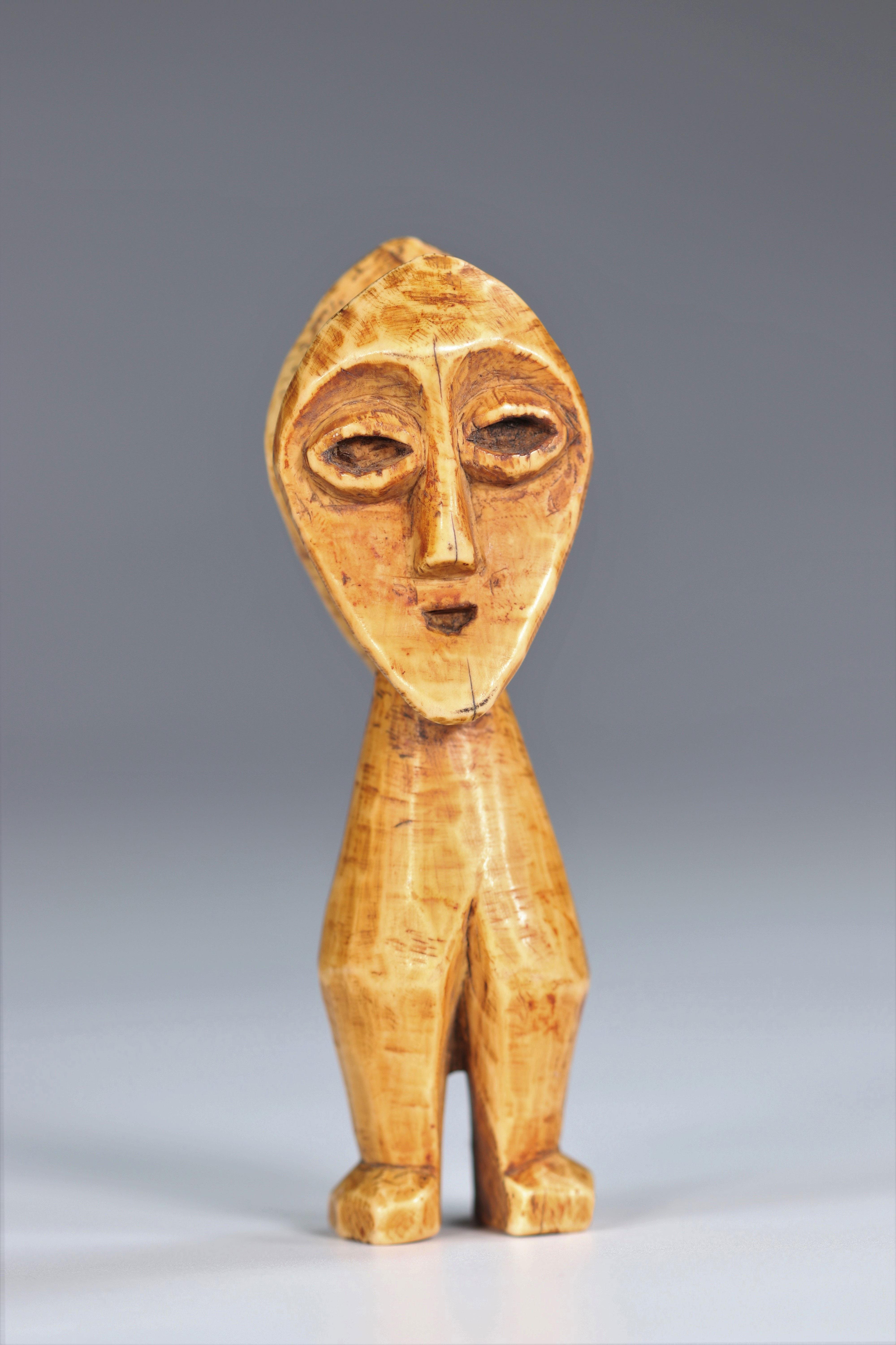Statuette janus Lega DRC Ivory - mid20th - Image 2 of 5