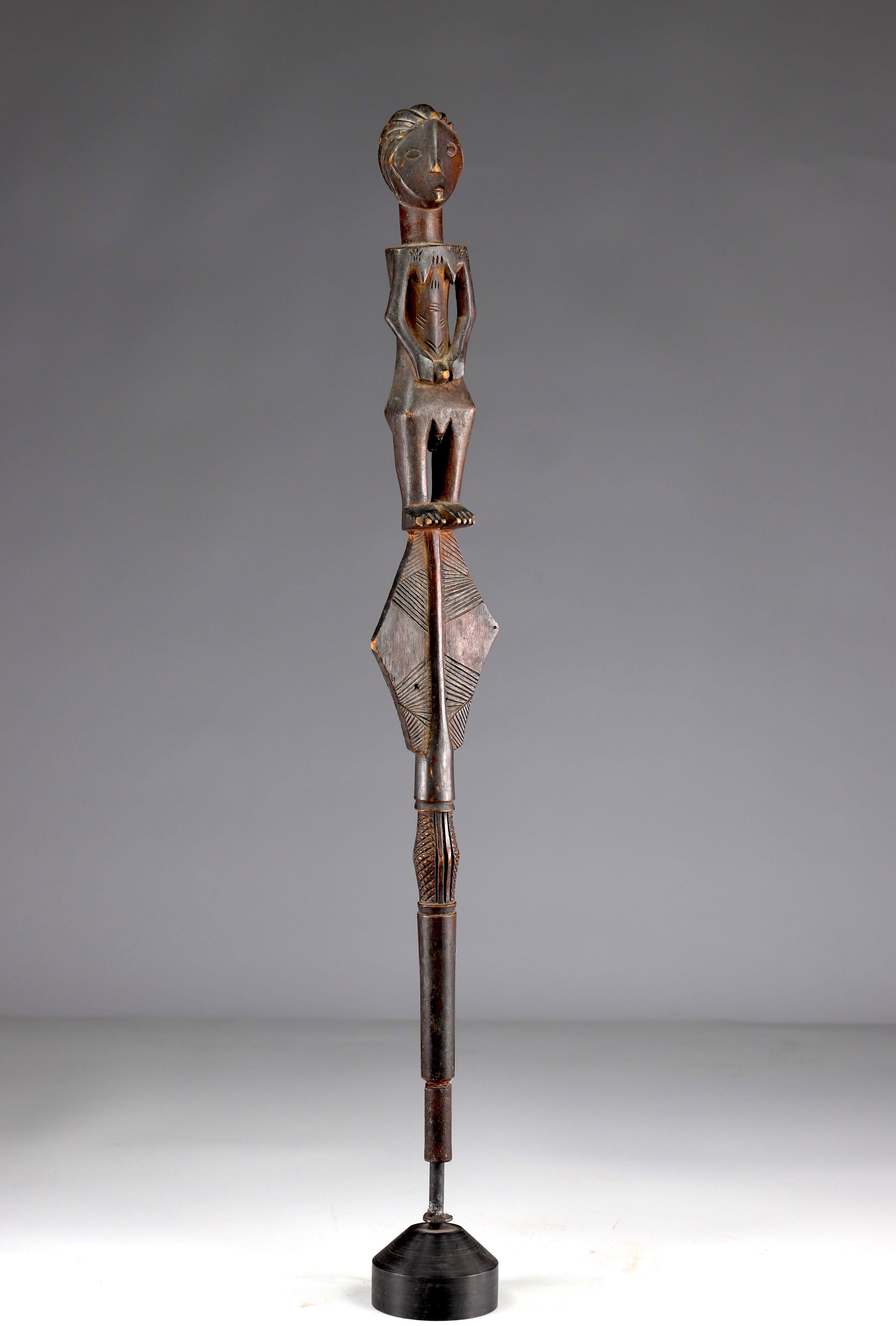 Beautiful and elegant Luba scepter top - beautiful original patina - private collection Belgium - Image 2 of 5