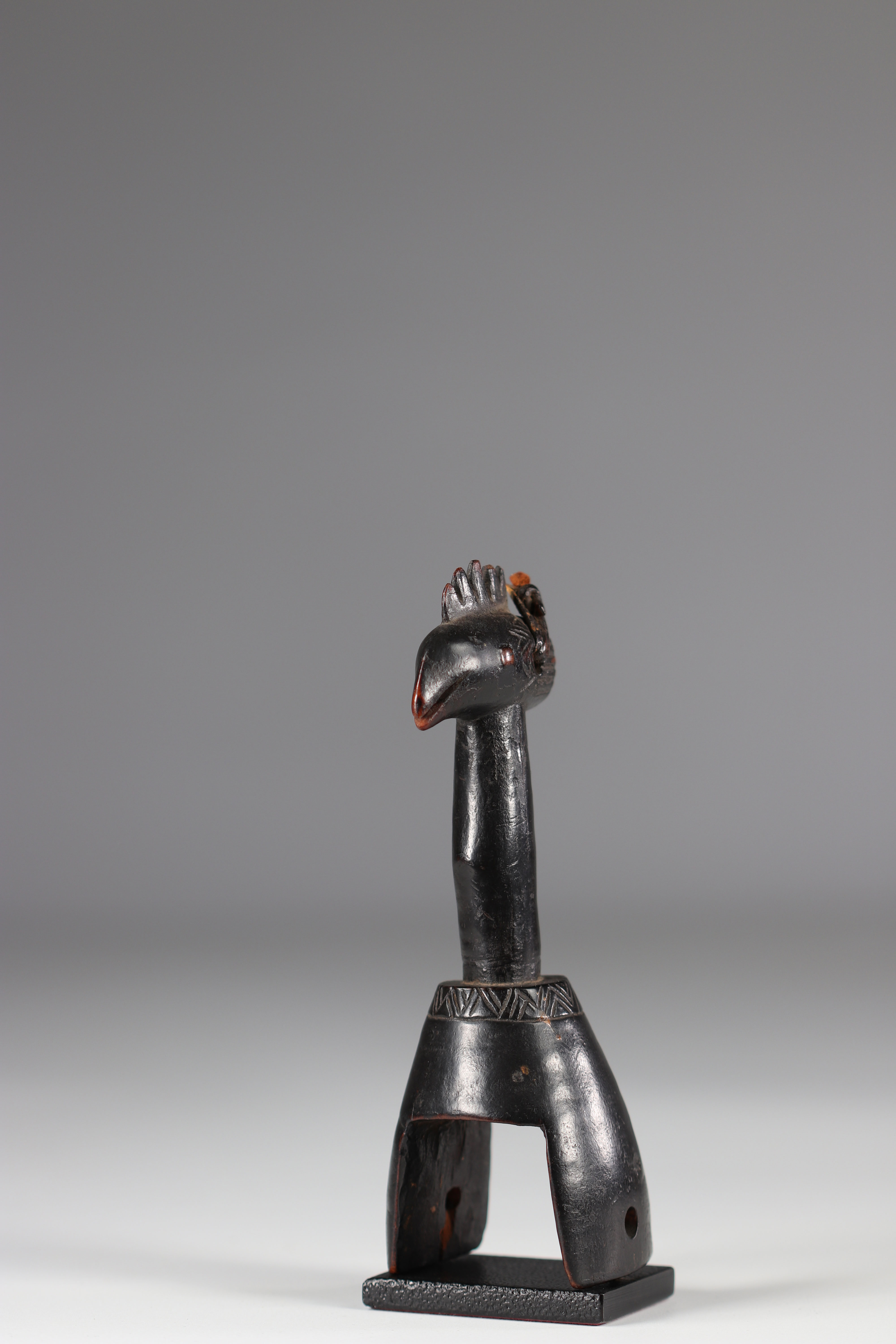 """Beautiful Gouro C""""te D'Ivoire pulley early 20th century - Image 2 of 5"""