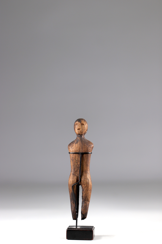Old statuette of Eskimo shaman - Alaska - 19th century - Image 5 of 5