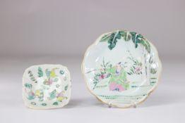 China set of 2 porcelain dish