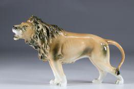 Sitzendorf porcelain lion