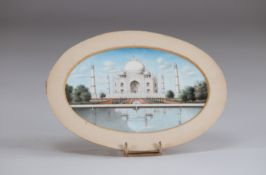 Tacha Mahal fine painting on ivory 19th