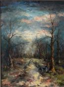 """Mady Reuland Kayser Luxembourg """"winter landscape"""""""