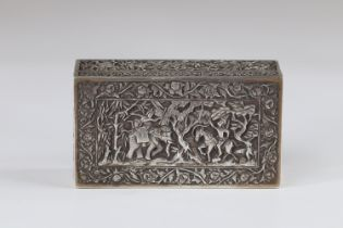 North China Thailand rich silver box decor of scenes of life early 20th century