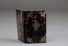 19th century tortoiseshell and silver ball notebook