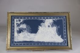 Villeroy & Boch plaque decorated with a beautiful romantic scene