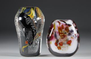 Maxence Parot - Lot of 2 Asian style vases