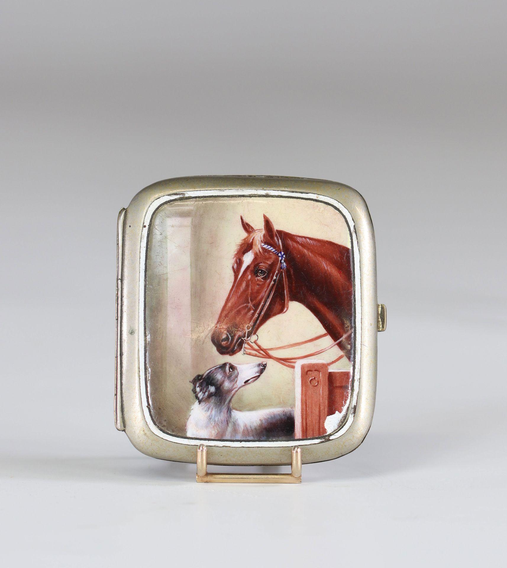 "enamel box ""horse and dog"" circa 1900"