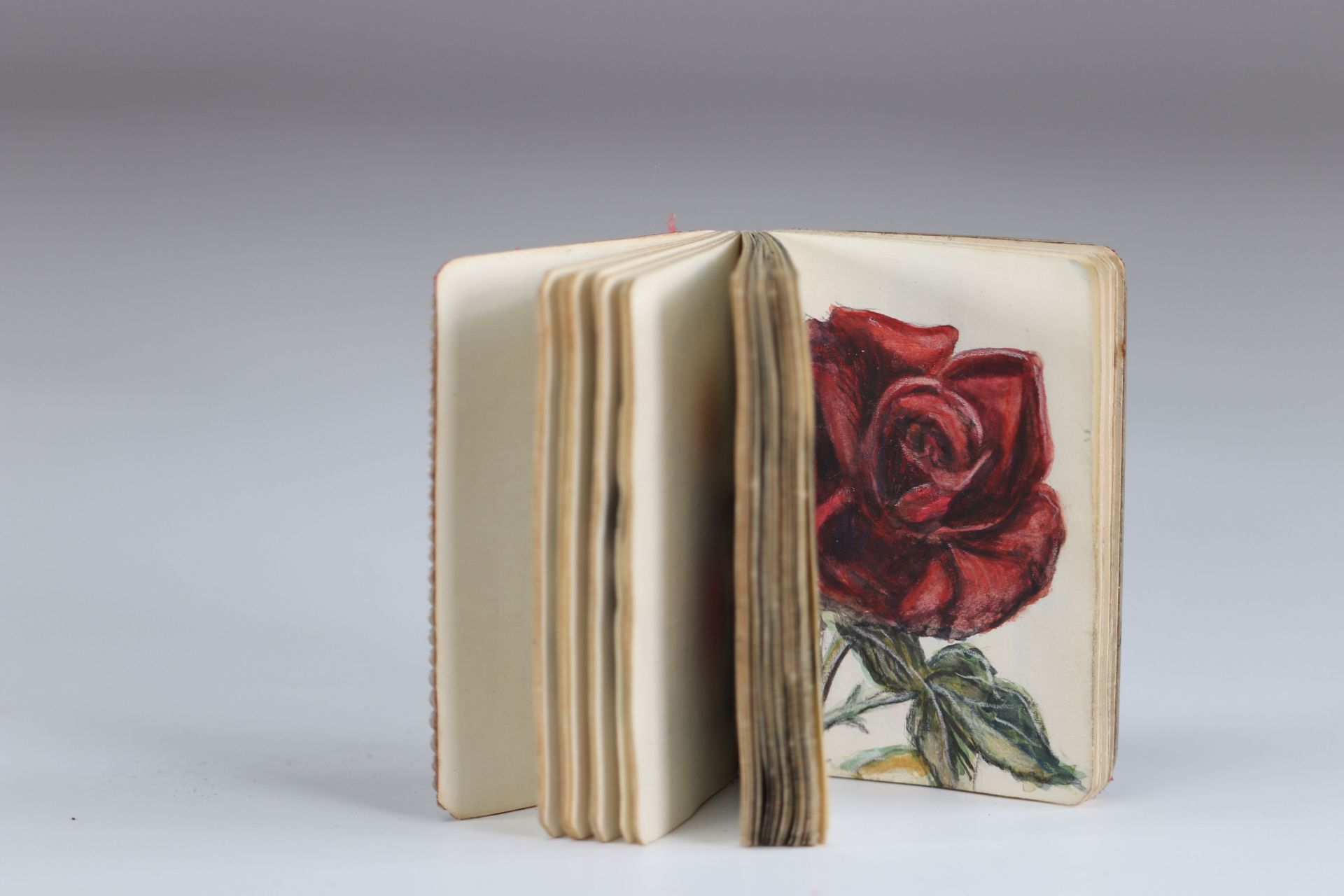 Carved mother-of-pearl ball book of a young woman with a greyhound - Image 3 of 3