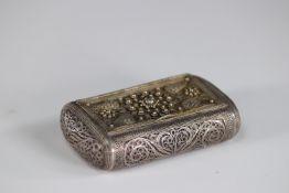 filigree silver box circa 1900