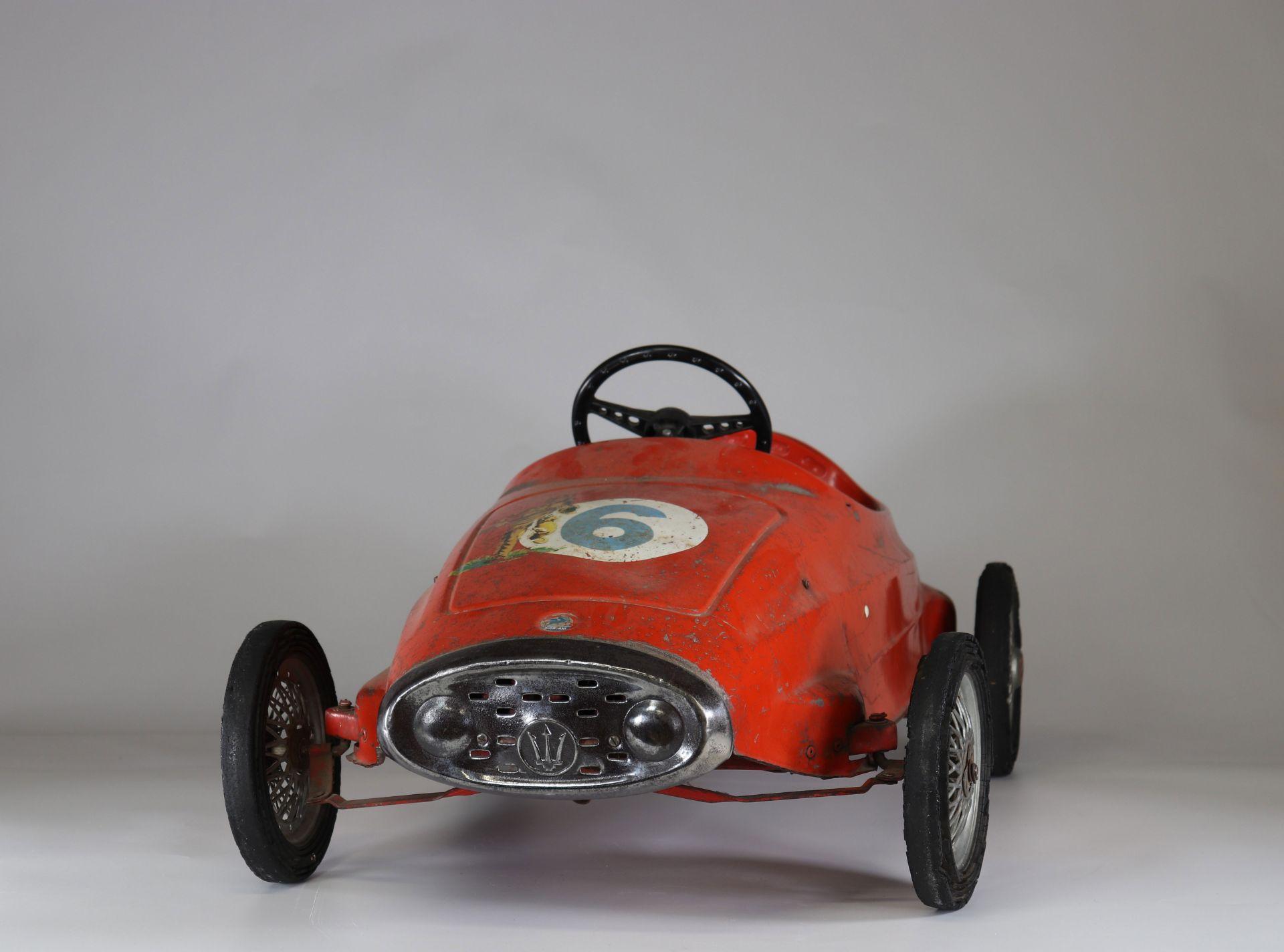 Old Maserati pedal car