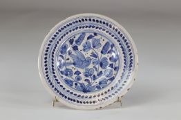 Delft? plate decorated with a bird